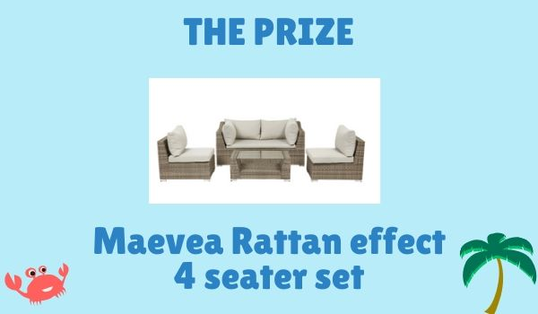 Win a Rattan Outdoor Sofa Set